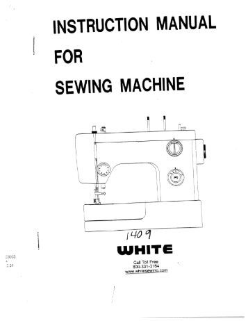 manual for a singer sewing machine