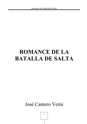 ROMANCE DE LA BATALLA DE SALTA