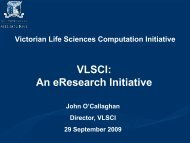 VLSCI an eResearch Initiative