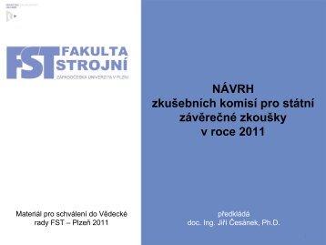 doc. Ing. Jiří Česánek, Ph.D. – ZČU Plzeň, KTO