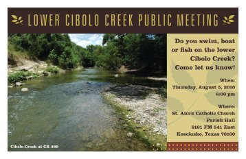 LOWER CIBOLO CREEK PUBLIC MEETING