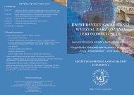 Ulotka konferencyjna - Wydział Zarządzania i Ekonomiki Usług