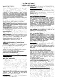 versione integrale del Calendario Piscatorio 2011 - Provincia di Rimini