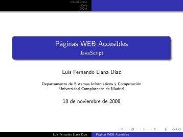 Páginas WEB Accesibles - Universidad Complutense de Madrid