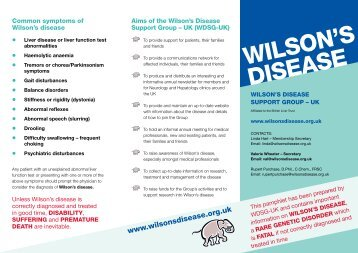 Download Pamphlet - Wilson's Disease Support Group (UK)