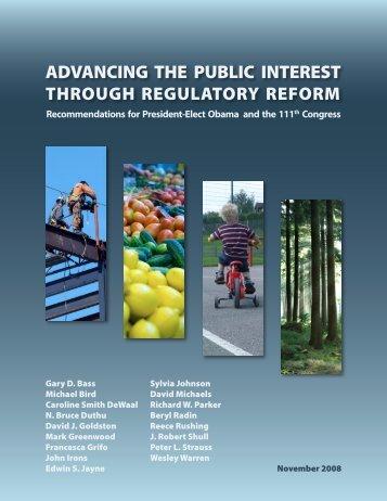 Advancing the Public Interest Through Regulatory ... - RegInfo.gov