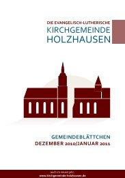Gemeindeblättchen Dezember 2010 / Januar 2011 - Kirchgemeinde ...