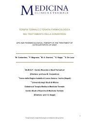 Terapia termale e terapia farmacologica nel trattamento della ...