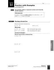 8.4 Practice with Examples - WorthysAlgebraClass