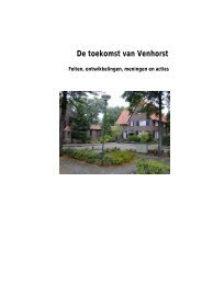 De toekomst van Venhorst Feiten, ontwikkelingen, meningen ... - PON