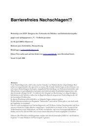 Jens Schönfelder Barrierefreies Nachschlagen - Handout - Augenbit