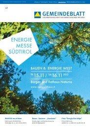 Sonderausgabe Gemeindeblatt Naturns - IG Passivhaus Südtirol