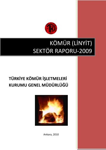 kömür (linyit) sektör raporu-2009 - Enerji ve Tabii Kaynaklar Bakanlığı