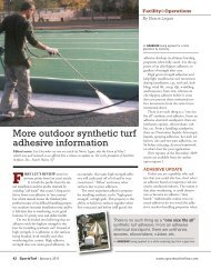 More outdoor synthetic turf adhesive information - About SportsTurf