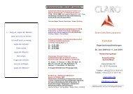 Jahresprogramm 2009 CLARO Karlsruhe Curriculum ...