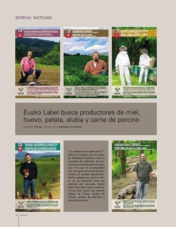Eusko Label busca productores de miel, huevo, patata, alubia y ...
