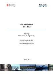 pla de govern 2011-2014 - Premsa - Generalitat de Catalunya
