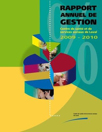 Rapport annuel de gestion 2009-2010 - Centre de santé et de ...