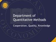 Department of Quantitative Methods - Pannon Egyetem GTK Wiki
