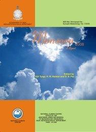 Monsoon Report 2008 - India Meteorological Department