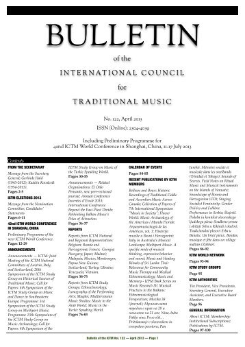 Download latest issue - International Council for Traditional Music