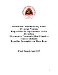 Evaluation of the National Family Health Promoter Program ... - basics