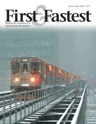 First Fastest - Chicago SouthShore and South Bend Railroad