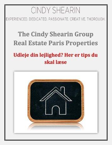 The Cindy Shearin Group Real Estate Paris Properties: Udleje din lejlighed? Her er tips du skal læse