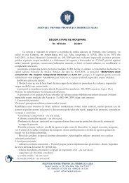 download proiect decizie - Agentia pentru Protectia Mediului