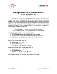 Sanex for Windows 98 - Indosat