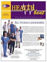 May 2001 - McCrone Healthbeat