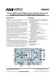 WM8960, Rev 4 1 - Wolfson Microelectronics plc