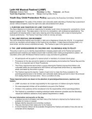 Leith Hill Musical Festival child protection policy 2010 final