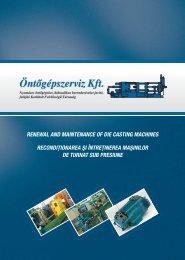 Renewal and maintenance of die casting machines • Recondiţionarea