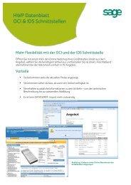 Flexibilität mit der OCI und der IDS Schnittstelle