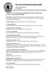 Protokoll_Styrelsemöte - Svenska Rottweilerklubben / AfR