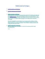 FileZilla Install and Configure