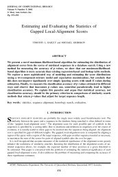 Estimating and Evaluating the Statistics of Gapped Local-Alignment ...