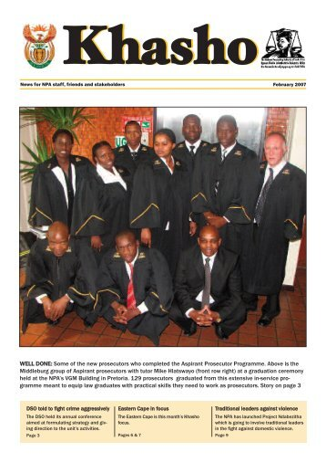Khasho February 2007 - National Prosecuting Authority