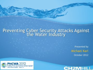 Preventing Cybersecurity Attacks Against Water Infrastructure - pncwa