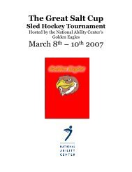 The Great Salt Cup Sled Hockey Tournament - National Ability Center