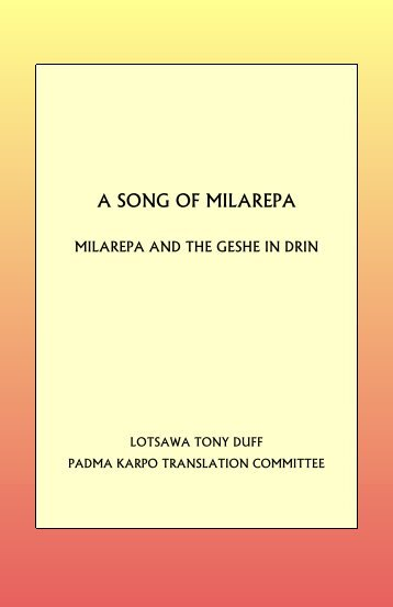 A Song of Milarepa: The Geshe in Drin - HolyBooks.com