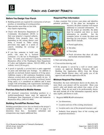 how to make carport permit