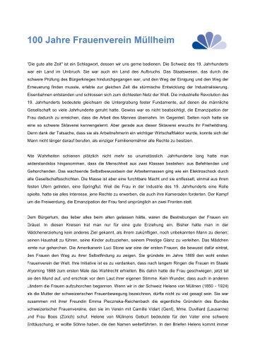 100 Jahre Frauenverein Müllheim - TGF Gemeinnütziger ...