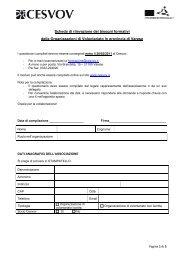 Scheda di rilevazione dei bisogni formativi delle ... - Cesvov