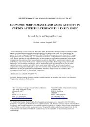 economic performance and work activity in sweden after ... - S-WoPEc