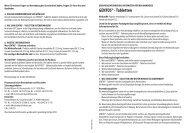 GENTOS® - Tabletten - Richard Bittner AG