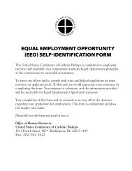 Equal EmploymEnt opportunity (EEo) SElF-iDEntiFiCation Form