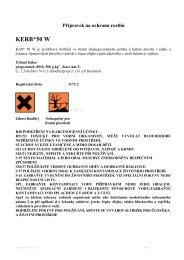 Etiketa přípravku - VP Agro