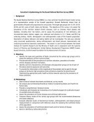 1 Consultant in Epidemiology for the Kuwait National Nutrition ...